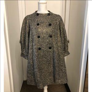 Burberry Daresbury Metallic Wool Coat - NWT